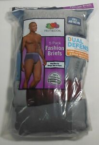 Fruit of the Loom Men's Cotton Mid-Rise Fashion Briefs 3XL 48-50 in., 5-Pack
