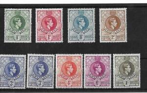 (Q) Swaziland 1938-54 definitives mint (9v)