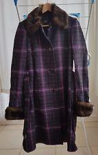 Esprit Collection Premium Women Coat 80% Rich Wool Faux Fur Collar & Cuffs