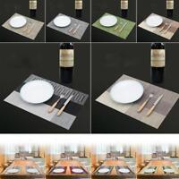 PVC Heat Insulation Placemat Anti-slip Pad Dinning Mats Restaurant Table Decor
