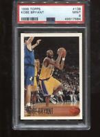 Kobe Bryant RC 1996-97 Topps #138 Rookie HOF Los Angeles Lakers PSA 9