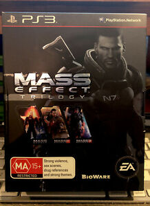 Mass Effect Trilogy Box Set PS3 With Manuals Very Good Condi Discs Oz🇦🇺Seller