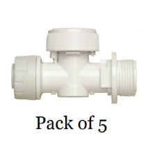 5 x Polyplumb 15mm x 3/4 High Pressure Ball Valve Plastic Appliance Valve PB6115