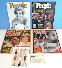 PRINCESS DIANA~Lot Commemorative MAGAZINES 1997 Princess of Wales- PEOPLE/STAR