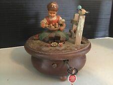 vtg Anri music jewelry box Thorens switzerland Long Key Mf 28.166 Hi Lilli Hilo