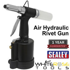 "Sealey Air Hydraulic Rivet Gun Riveter 1/4"" Aluminium Stainless Steel Rivets"