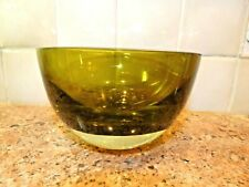 Vintage Mid-Century Scandinavian Nordic Sommerso Glass Bowl