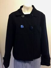 Gorgeous Short Black Double Breasted Lined Jacket from Papaya - Size 18 - Great!