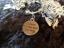 Believe You Can And You Will - Motivational Charm for Weight Watchers Keychain!