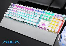 Gamer Gaming LED Keyboard Illuminated PC Laptop 7 USB Wired Backlight Colours UK