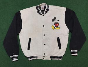 VTG 90s Walt Disney Mickey Mouse Varsity Jacket Adult Sz XL RARE