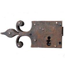 Serrure ancienne en fer forgé époque XIXème
