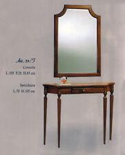 Tavolino consolle con specchiera mod.39F -  stile arte povera