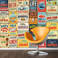 Decoration Home Family Art Vintage Metal Signs Mural Wall Stickers 152cm x 161cm