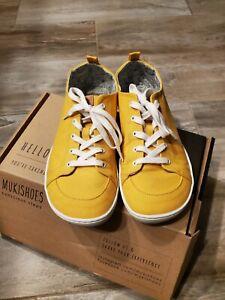 Mukishoes Sol (men's yellow minimalist/ barefoot) shoes. Worn once. Size 43 EU.
