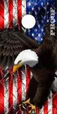 American Flag Eagle Barbwire Cornhole Wrap Bag Toss Skin Decal Sticker Wraps