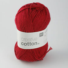 Rico Creative Cotton DK - 100% Cotton Knitting & Crochet Yarn - Cherry 009
