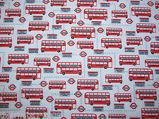 Fun Fish-Bus-Teddy-Dog Paws Spring Polycotton Fabric Dress/Craft Fabric