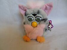 AS IS Furby w/tags grey/pink Tiger 1998 home deco ULTRA FAST SHIPPING