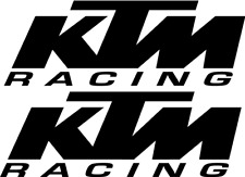 2 x KTM Racing Logo Viele Farben Größe 13 cm x 5 cm ANSEHEN