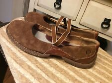 Born Brown Leather/ Suede Mary Jane Shoes Womens Size 9M