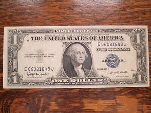 $1 SILVER CERTIFICATE SERIES 1935 H CRISP UNC