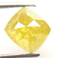0.99 cts. Cushion Intense Yellow Natural Loose Diamonds 5.40 x 6.00 x 3.20 mm