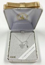 Disney Parks Silver Mickey Mouse Lock & Key Swarovski Crystal Necklace New