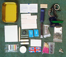 Deluxe Survival Tin / Kit  EDC Survival Bushcraft Bug Out scouts military