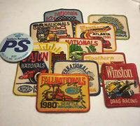 Vintage  NHRA Winston Drag Racing Patches 1980 1981 1982 Pit Pass 1988 Hot Rod