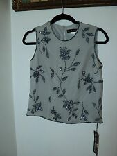 trent nathan grey  beaded silk shell  NEVER WORN 10