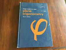 Plane Trigonometry by Rickey and Cole (1969 Hardcover) store#6422