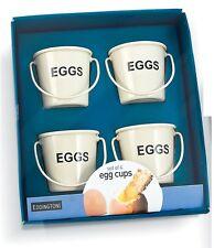 Eddingtons set de 4 hueveras cubos crema metal desayuno Diversión Ed