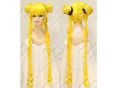 Sailor Moon Tsukino Usagi Cos Wig New Long Yellow Cosplay Party Wigs