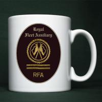 Royal Fleet Auxiliary - PO(C) Badge - Personalised Mug
