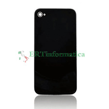 COVER POSTERIORE COPRIBATTERIA NERO BLACK NO BRAND PER APPLE IPHONE 4 S +++NEW