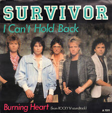"SURVIVOR – I Can't Hold Back / Burning Heart (1986 SINGLE 7"" HOLLAND)"