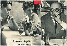 Coupure de presse Clipping 1959 (2 pages) Sophia Loren et Carlo Ponti