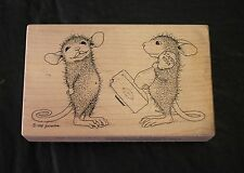 Stampa Rosa House Mouse 002 Stamp a Kiss Limited Edition 1998 Rubber Stamp Wood