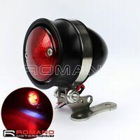 Motorcycle LED Red Tail Brake Light Lamp Mount Steel Bracket For Harley Chopper