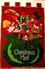 Bucilla Needlecraft Felt Kit 2840 Jeweled Christmas Mail Santa's Toy Bag Done