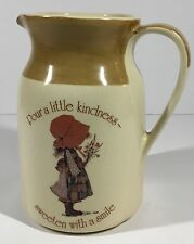 Holly Hobbie Country Living Earthenware Pitcher Creamer Juice Syrup Milk Water
