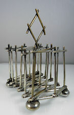 Arts & Crafts MAPPIN & WEBB Silver Plate Concertina Expanding TOAST RACK Dresser