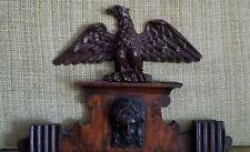 Gustav Becker Regulator Wall Pendulum Clock Eagle Topper Finial