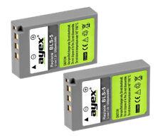 2 x ayex® BLS-5 Li-Ion Akku für Olympus PEN E-PL2, E-PL3, E-P3, E-PM1 Kameras