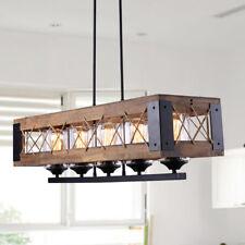 LNC Wood Kitchen Island Lighting 5-light Pendant Lighting Linear Chandeliers