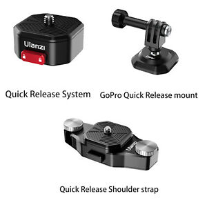 Ulanzi Vlog Tripod Claw Quick Release Plate Clamp for DSLR Gopro Camera