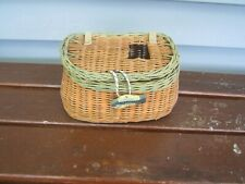 Vintage Small Wicker Fishing Creel