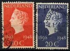 Netherlands 1941 SG#670-1 Golden Jubilee Used Set #D71559
