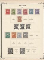 salvador stamps page ref 17184